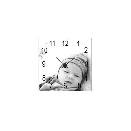 Horloge murale en MDF carré personnalisé