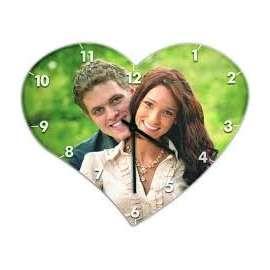 Horloge murale en MDF coeur personnalisé