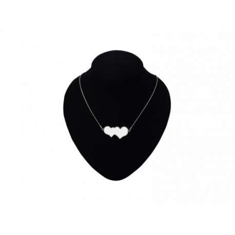collier double coeur personnalisé