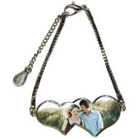 fachion bracelet double coeur personnalisé