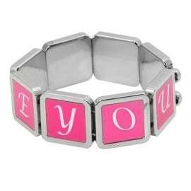bracelet 8 carrés personnalisé
