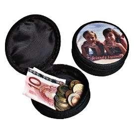 Mini portefeuille, couleur noir, personnalisé