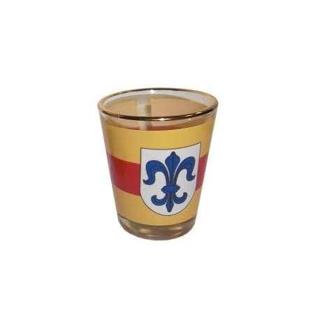 Verre à liqueur 2cl, avec bord doré personnalisé