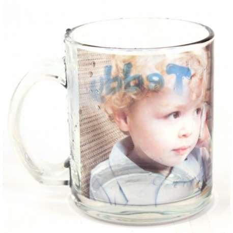 Tasse en verre transparent 10 oz, personnalisée