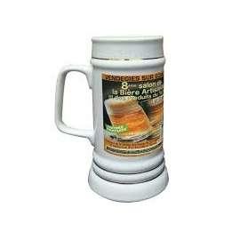 Chope à bière Upper Class RADLER 500 ml, couleur blanc sans couvercle personnalisée