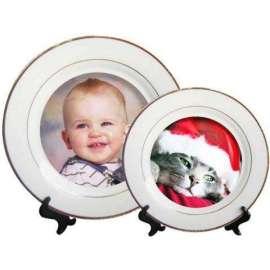 Assiettes en céramique blanche